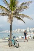 Brazilian Bike Rider Ipanema Beach Rio de Janeiro