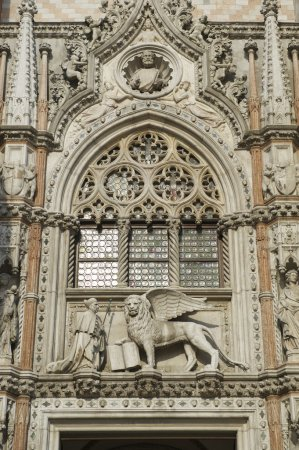 Close up of the Porta della Carta entrance to the ...