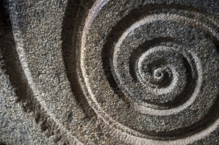 Spiral Pattern Carved in Stone