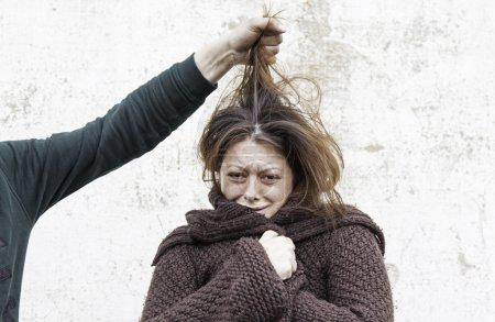 Woman victim of man