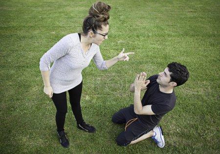 Girl assaulting boyfriend
