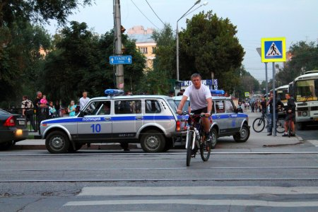 Samara, Russia - August 21, 2014: the detention of criminals. A