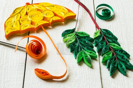 Fragments of decoration in quilling techniques