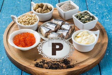 Products containing phosphorus (P)
