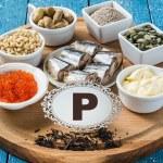 Products containing phosphorus (black tea, red cav...