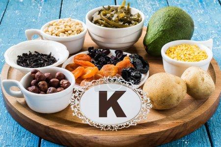 Products containing potassium (K)
