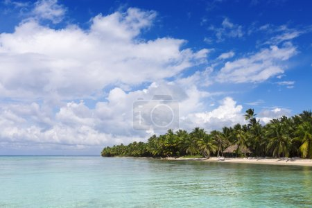 Photo for Clear blue water and Beach on the tropical island - Royalty Free Image
