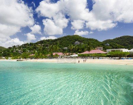 Beach on the tropical island.
