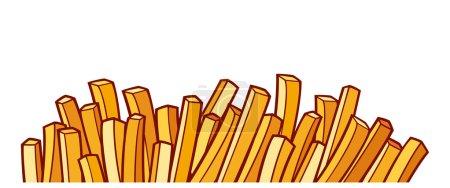 Illustration pour Frites - image libre de droit