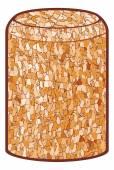 Wine cork vector illustration