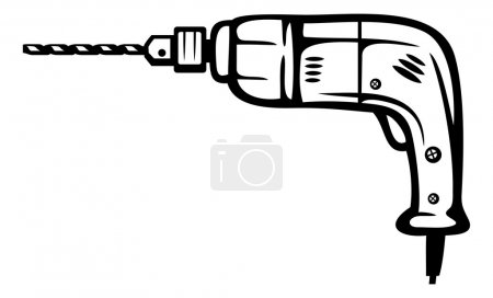 Illustration for Electric drill - Royalty Free Image