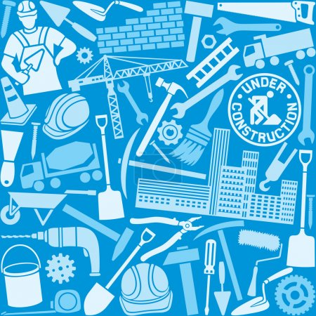 construction icons pattern