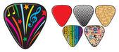 guitar picks or plectrums