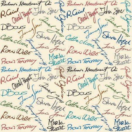 imaginary signatures seamless pattern