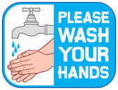 Please wash your hands sign (please wash your hands icon please wash your hands symbol please wash your hands label)