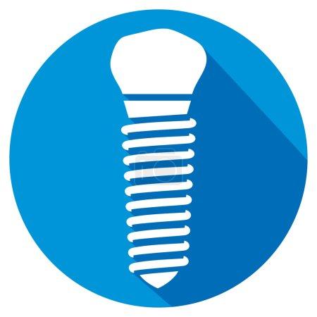dental implant flat icon