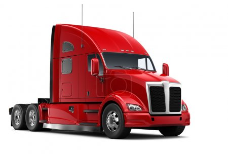 Isolated Red heavy truck