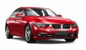 Moderní červené auto