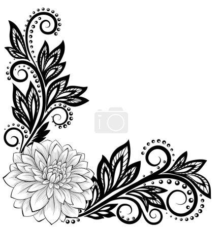 Beautiful monochrome black and white lace flower i...