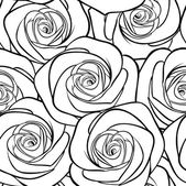 Beautiful black and white seamless pattern in roses with contours  for greeting cards and invitations of the wedding birthday Valentine's Day mother's day and other seasonal holidays