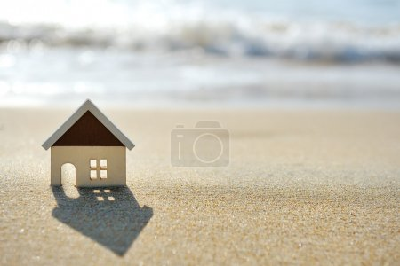 Photo for Little house on the sand beach near sea - Royalty Free Image