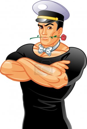 Handsome cartoon man