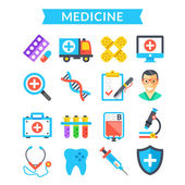 Medical icons set Medicine treatment science healthcare diagnostics Modern flat icons colorful material design icons set for websites web banners mobile apps infographics Vector icons set