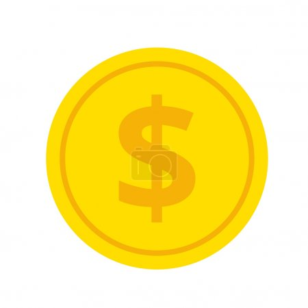 Gold Coin Flat Icon