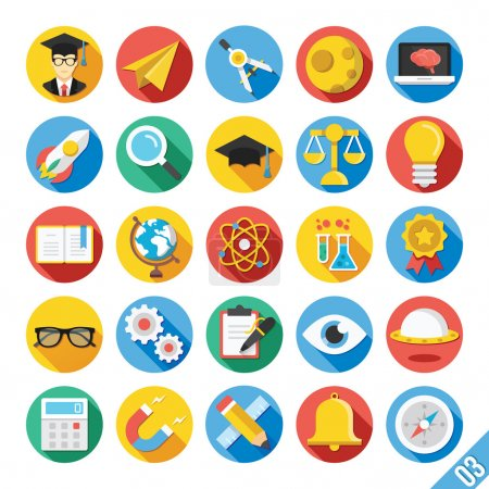 Modern Vector Flat Icons Set 3