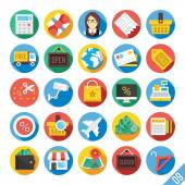 Modern Vector Flat Icons Set 9