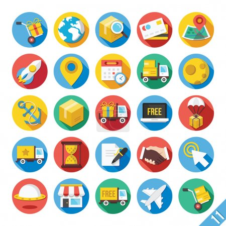 Illustration for Modern Vector Flat Icons Set 11 - Royalty Free Image