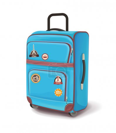 Illustration for Travel bag. Vector illustration - Royalty Free Image
