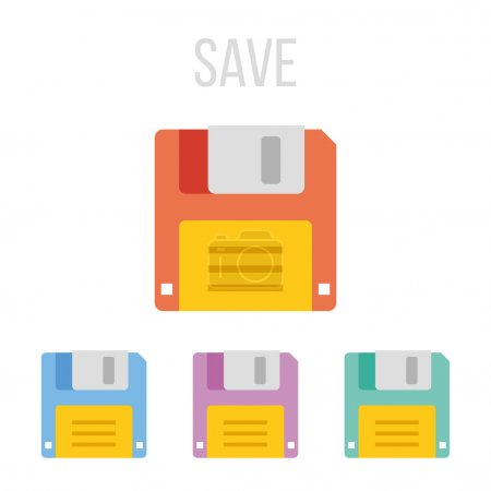 Vector floppy disk icons.Creative colorful graphic...