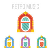Vektorové ikony jukebox