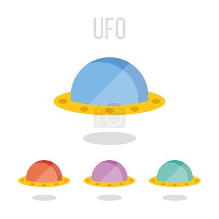 Vector UFO icons