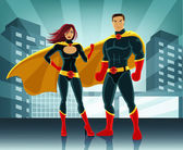 Superheroes vector illustration