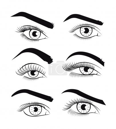 Illustration for Vector template eyes. Vector illustration - Royalty Free Image