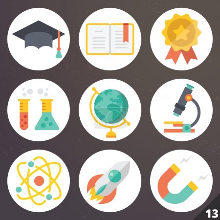 Colorful vector icons for web and mobile applications. Set 13