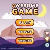 Main menu game interface kit Mystery canyon scene
