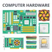 Computer hardware flat illustration concepts and flat icons set Flat design graphic concepts for web banners web sites printed materials infographics Creative vector illustration