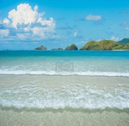 Beautiful beach and tropical ocean islands Lombok, Indonesia.