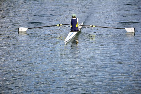 Rower in a boat