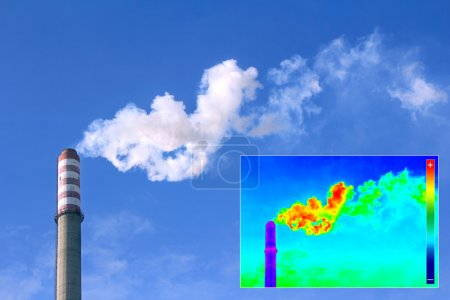 Thermovision image heating chimney