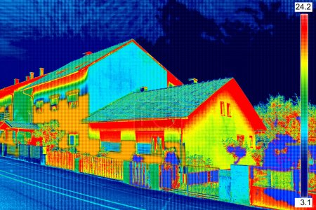 Thermal image on House