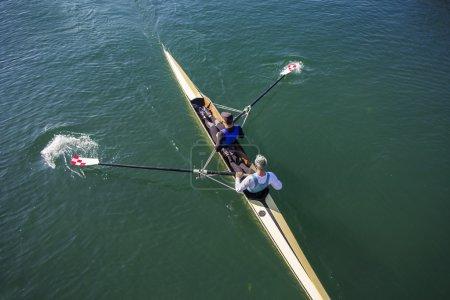 Two Men paddling