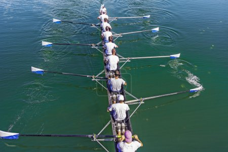 Eight Rowers training rowing