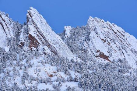 Flatirons Snow Flocked