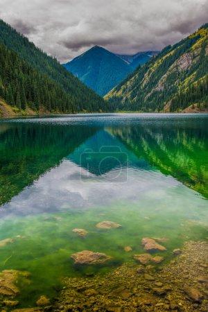 Beautiful view of high mountain lake