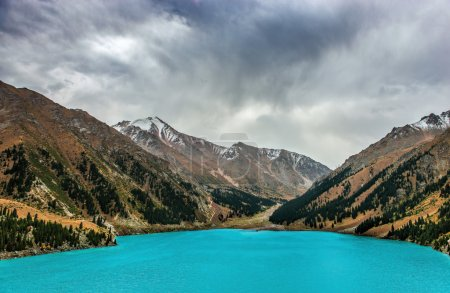Big Almaty Lake in Kazakhstan