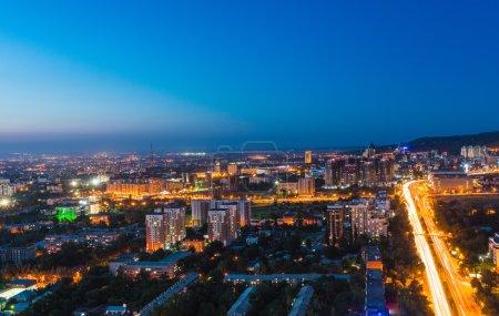 view of Almaty city in Kazakhstan